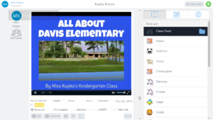 An example of a video post in Seesaw.